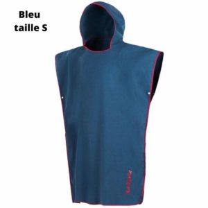 Beach cape for adults detail blue S