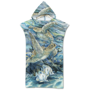 Beach towel for children seabed