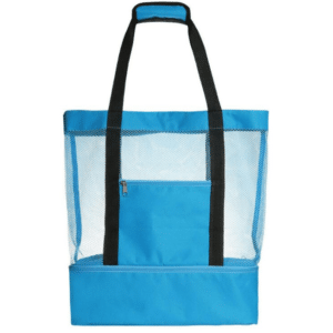 Large beach bag with blue cooler