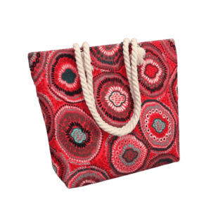 Beach bag for women printed in canvas produced