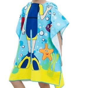 Beach towel for diving child