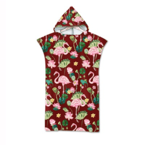 Tropical Flemish and Ginko Hooded Beach Towel