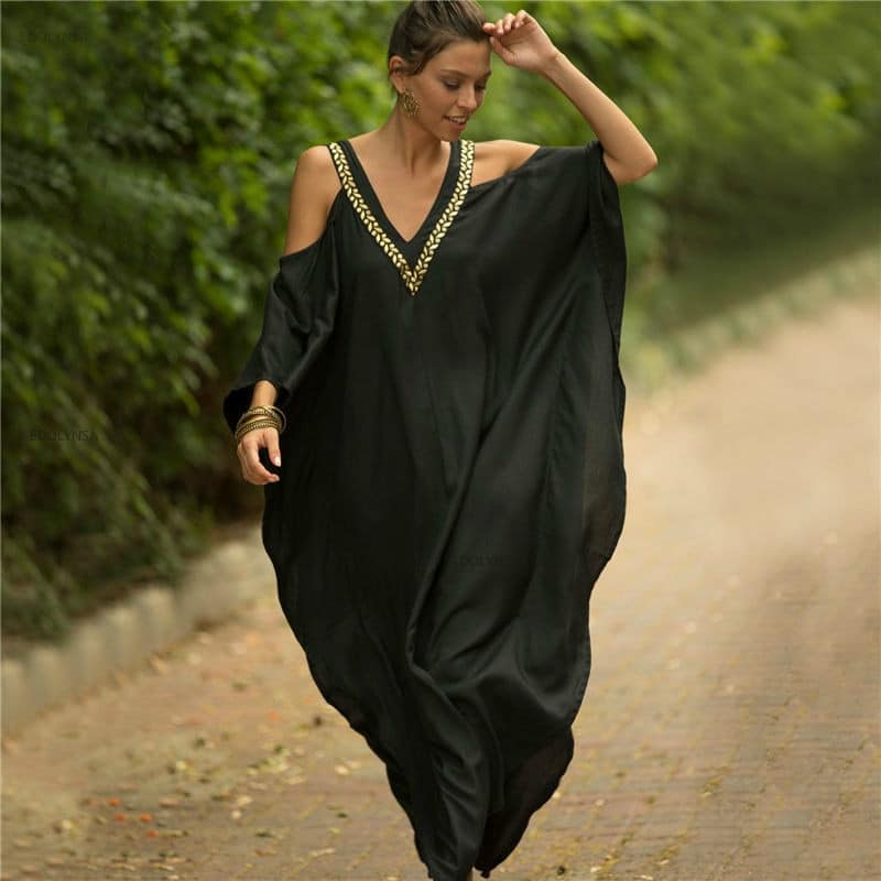 Pareo dress with African inspirations black