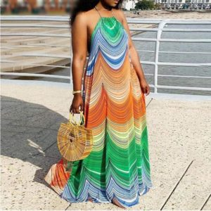 Sarong dress with African patterns 1